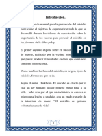 Manual de Prevencion Del Suicidio.
