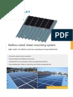 Railless Metal Sheet Mouning System