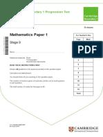 Maths Stage 9 p1-2015