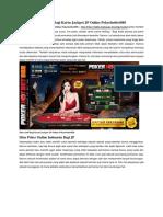Situs Judi Bagi Kartu Jackpot JP Online Pokerhotbet888