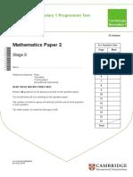 Maths Stage 9 p2-2015