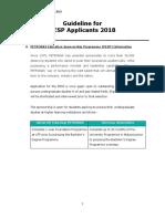Guideline for PESP Applicants 2018
