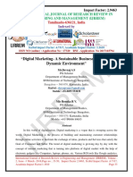 """Digital Marketing- A Sustainable Business Practice in Dynamic Environment"""""""