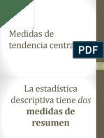 Medidas de Tendencia Central - H. Cuantitativa