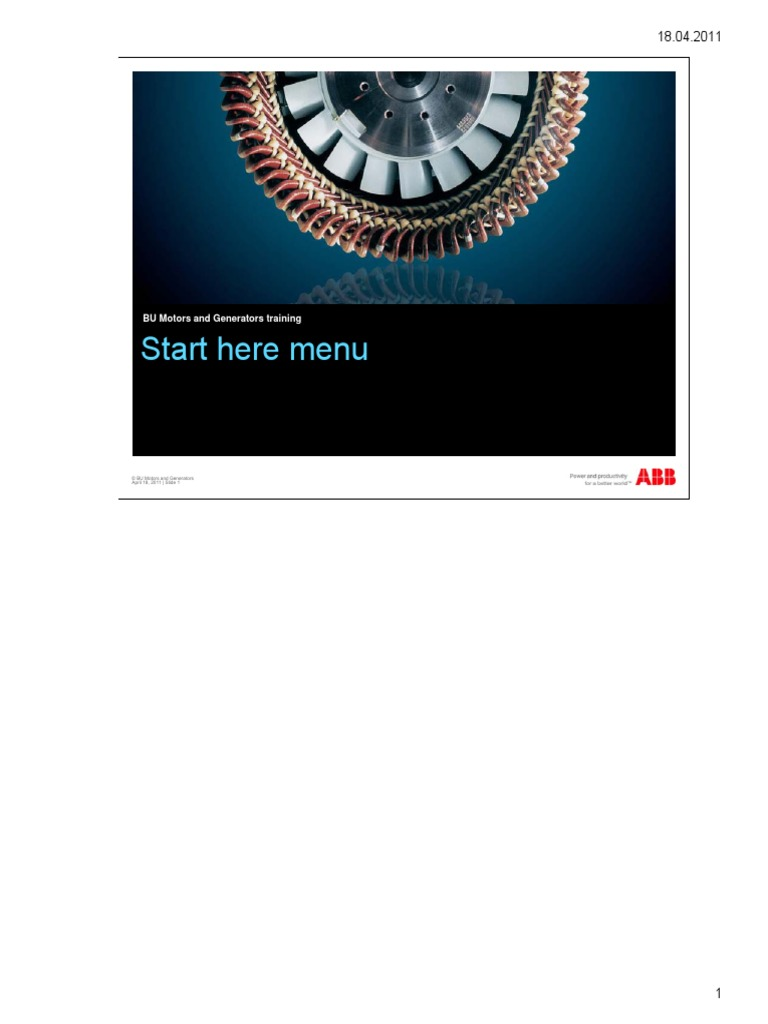 ABB-Motors and Generators Training | Electric Motor | Magnetic Field