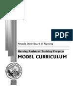 CNA Model Curriculum Aug 2006