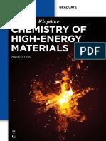1klapotke t m Chemistry of High Energy Materials