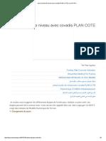 Calcul Courbe de Niveau Avec Covadis PLAN COTE _ مجلتك المعمارية