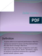 Sales Quota and Sales Display