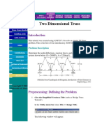 Two Dimentional Truss