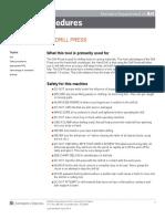 Art Dept Safety Procedures Drill Press