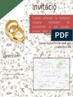 Tarjeta Matrimonio Angelica Espinosa Lobaton