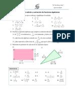 Guia_ejercicios_Adicion y Sustraccion de Fracciones