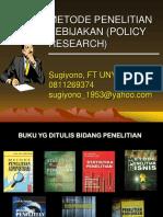 Penelitian Kebijakan 2013