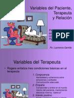 Caracteristicas Del Paciente y Terapeuta