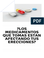 Los Medicamentos Que Tomas Están Perjudicando Tus Erecciones