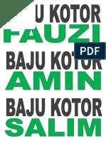 Baju Kotor