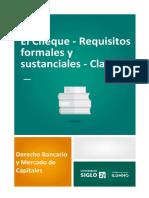 El Cheque - Requisitos formales y sustanciales - Clases.pdf
