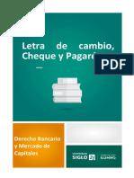 Letra de Cambio, Cheque y Pagaré