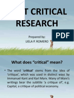 Postcritical Research