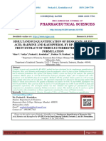 SIMULTANEOUS QUANTIFICATION OF DIOSGENIN, OLEIC ACID, HARMINE AND KAEMPFEROL BY RP-HPLC IN THE FRUIT EXTRACT OF TRIBULUS TERRESTRIS L. AND ITS FORMULATION