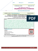 DESIGN, SYNTHESIS AND PHARMACOLOGICAL EVALUATION OF NOVEL 1,3-INDANEDIONE DERIVATIVES