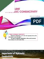 Hydraulic conductivity