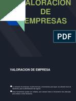 Valoracion de Empresas - Administracion Financiera