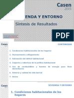 CASEN 2015 Resultados Vivienda y Entorno