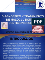 Diagnostico y Tratamiento de Maloclusiones en Denticion Decidua
