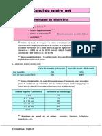Cours et Exercice Corrigé de Calcul Salaire Net et de l'IR Salarial  au MAROC