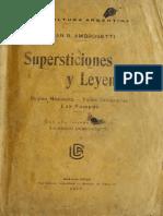 Supersticiones y Leyendas Misioneras