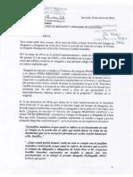 Luis E. Loría - Carta a Juan Luis León Blanco, Presidente de la Junta Directiva del Colegio de Abogados - 15 de enero 2018