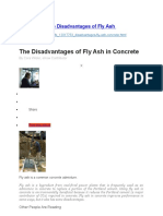 The Disadvantages of Fly Ash