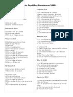 Calendario República Dominicana 2018