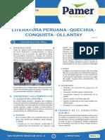 Literatura Peruana Quechua Conquista Ollantay