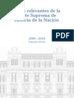 Fallos Relevantes de La CSJN (2003-2016)