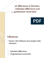 Individual Differences in Decision Making and Perception-1