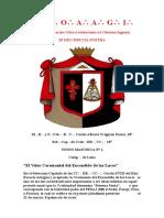 El Valor Ceremonial del Encendido de las Luces por Cab.·. R.·.C.·. Carlos Alberto Yrigoyen Forno 18°.doc