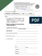 Application Format - AIIMS Mangalagiri