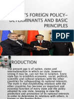 Domestic and International Requirements of India's Foreign Policy