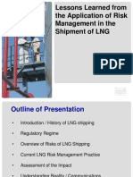 Lessons Learned From Application of Risk Management in Shipment of Lng