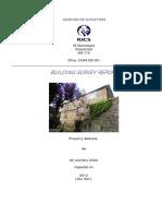 Building Survey Report Sample