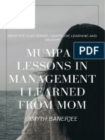 Mumpa - Lessons in Management That I Learned From Mom!