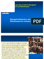 Managerial Behaviour and Effectiveness-Ppt