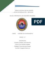 Propuesta de Gestión de Mantenimiento Para La Empresa