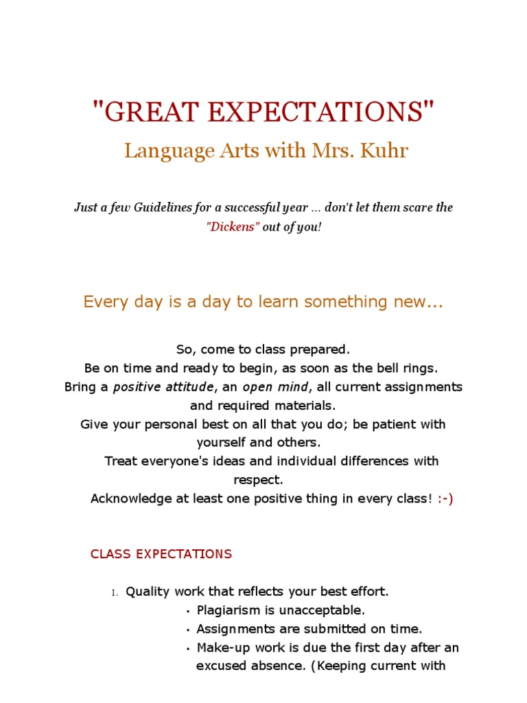 great expectations language