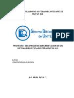 Manual de Usuario de Sistema de Biblioteca de Unitek Ilo