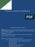 Lp 1 - Patologia Aparatului Respirator