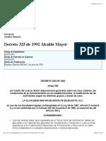 Zonal Decreto 325 de 1992